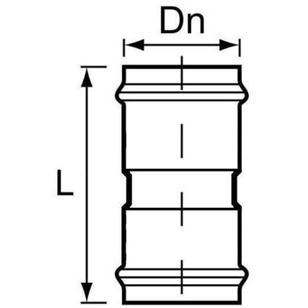 Муфта НПВХ напорная соединительная SDR26 110