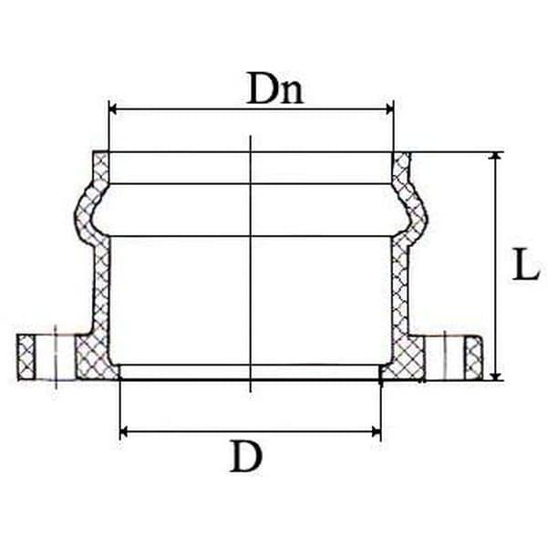 Патрубок НПВХ напорный раструбный с НПВХ фланцем 160/150