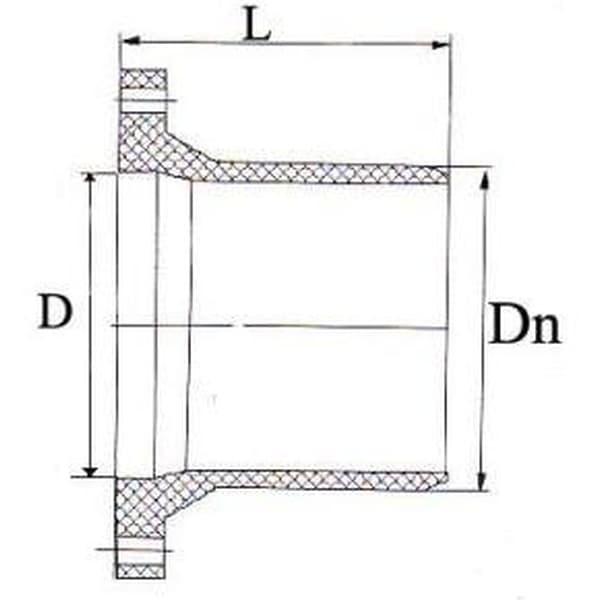 Патрубок НПВХ напорный гладкий с НПВХ фланцем 315/300